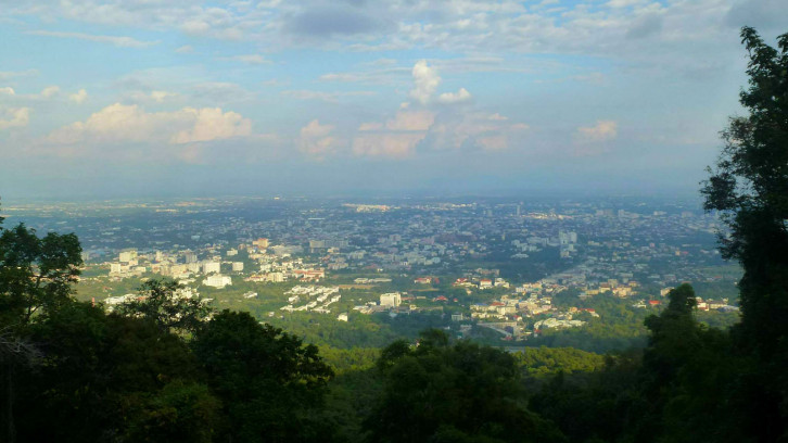 View on Chiang Mai from Doi Suthep