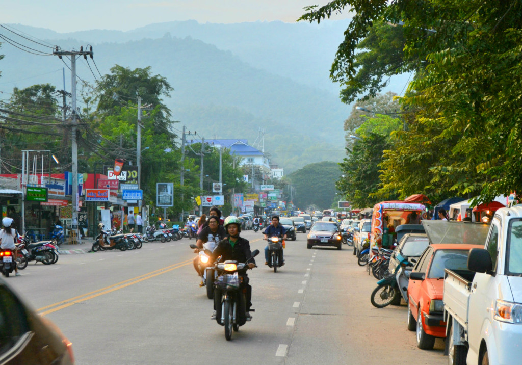 The challenge of riding a scooter in Thailand