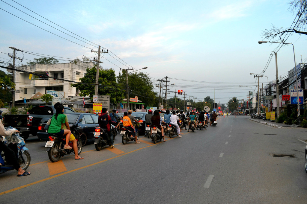 The challenges of riding a scooter in Thailand